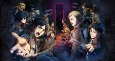 L'attacco dei giganti - Erwin, Eren, Levi, Mikasa, Jean, Reiner, Sasha, Marco, Armin,      Connie #aot #snk