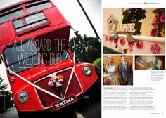 Our wedding, as featured in Handmade Wedding magazine