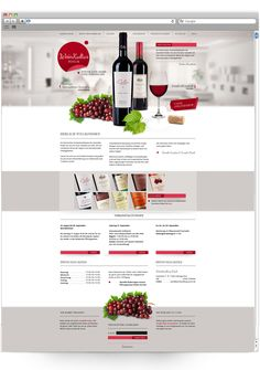 Web Design:  Wine Specialist and Shop by Rene Kohnen, via Behance