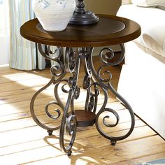 Have to have it. Hammary Homestead Antique Round End Table - Brown / Brass - $370 @hayneedle