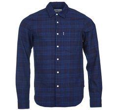 Barbour Toby Lightweight Indigo Cotton Button Up Shirt