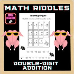 Thanksgiving Math Riddles | Addition Math Worksheets