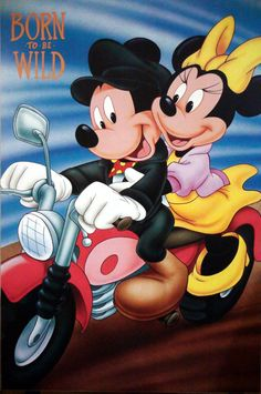 Mickey Mouse & Minnie Mouse Born to be wild