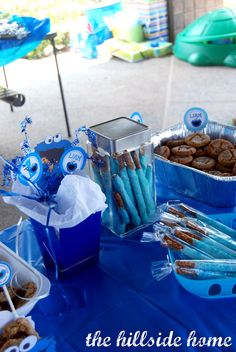 The Hillside Home: Liam's Cookie Monster Themed 1st Birthday
