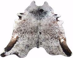 Longhorn Cowhide Rug Size: 9.5 X 7.7 HUGE ft Speckled Cow Hide Skin Rug E-675 #CowhidesUSA #Contemporary
