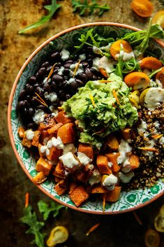 Cuban Quinoa Bowl with Spicy Lemon Cashew Dressing - Heather Christo