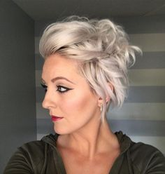 Getting ready to load today's #shorthairtutorialmonday video. Here's the pic peak. Wanted to show something you could get a little fancy with #shorthair for those nights you might be putting on a dress. #flatironcurls and a few #bobbypins will do the trick. #shorthairideas #shorthairstyles #pixiestyles #nothingbutpixies #dressitup or #dressitdown #modernsalon #americansalon #hairtutorials #instapeak #emilyandersonstyling