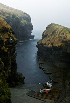 In the Faroe Islands - The North Atlantic.  Crazy beautiful.
