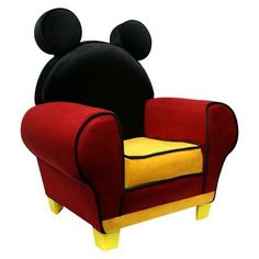 Chair kids upholstered chair disney mickey mouse chair 163 53 99