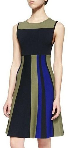 Sleeveless Colorblocked Dress