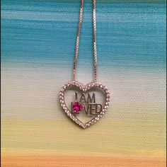 """Beautiful Helzberg """"I Am Loved"""" necklace Helzberg """"I Am Loved"""" necklace, rarely worn; newly polished/cleaned, beautiful stone in necklace Helzburg Jewelry Necklaces"""