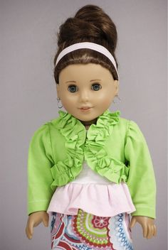 American Girl Doll Clothes Outfit White Tank by MyDressedUpDoll