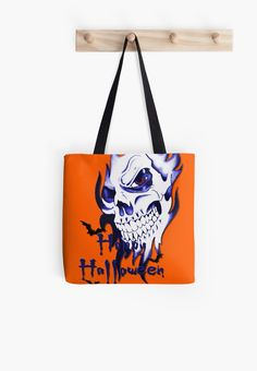 20% off travel mugs, tote bags, and spiral notebooks. Use LETSGO20. Happy Halloween, skeleton, skull, demonic eyes, face, bats 3 by cool-shirts   Also Available as T-Shirts & Hoodies, Men's Apparels, Women's Apparels, Stickers, iPhone Cases, Samsung Galaxy Cases, Posters, Home Decors, Tote Bags, Pouches, Prints, Cards, Mini Skirts, Scarves, iPad Cases, Laptop Skins, Drawstring Bags, Laptop Sleeves, and Stationeries #halloween #totes #bags #skull #handbags