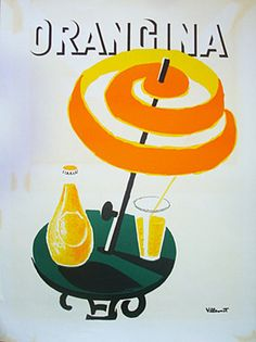 Villemot Orangina Cafe Table Proof by Galerie Montmartre, via Flickr