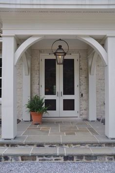 Ideas for exterior french doors front porches light fixtures Porte Cochere, Door Entryway, Entrance Doors, Garage Doors, Garden Entrance, Door Design, Exterior Design, Front Door Lighting, Muebles Shabby Chic