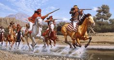 Running Fight ~ David Nordahl Apache Gallery