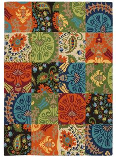 Patchwork Rug ― Four Chairs Furniture