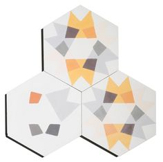 Tiles Uk, Hexagon Tiles, Yellow Tile, White Tiles, Lime Paint, Glazed Tiles, Unique Flooring, Antique Tiles, Spanish Tile