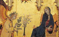 Annunciation by Simone Martini and Lippo Memmi