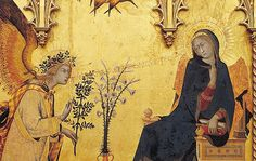 Annunciation by Simone Martini and Lippo Memmi