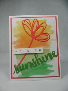 Sunshine Greetings Watercolor by cjzim - Cards and Paper Crafts at Splitcoaststampers