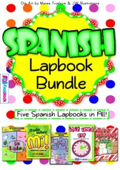 Spanish Lapbook Bundle - Add a twist to your Spanish lessons with these five lapbooks.  Que Hora Es (Time) Lapbook Todo Sobre Mi (All About Me) Lapbook  Las Estaciones (The Seasons) Lapbook  Feliz Navidad Lapbook  El Cuerpo (The Body) Lapbook  $