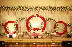 Mesmerize your guests with the charm of these engagement stage decorations ideas. Discover about the latest Engagement Stage Decoration Ideas with this post. Wedding Stage Decorations, Engagement Stage Decoration, Reception Stage Decor, Wedding Stage Backdrop, Wedding Stage Design, Marriage Decoration, Backdrop Decorations, Wedding Mandap, Backdrops