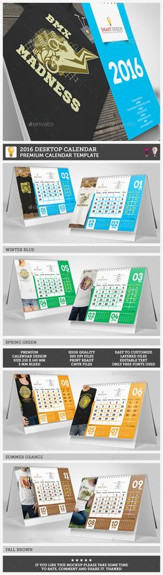 Desk Calendar 2017 | Desk Calendars, Calendar Design And Print