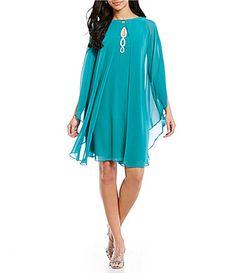 SL Fashions Beaded HighNeck 2Piece Capelet Dress #Dillards