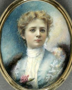 The winsome charm that made Maude Adams famous as Peter Pan is evident in this 1902 watercolor on ivory likeness by Clausen Cooper. The stage actress was 30 at the time. Caricatures, Maude Adams, Miniature Portraits, Miniature Paintings, Gilded Age, Art Graphique, Gothic Art, Historical Society, Vintage Beauty