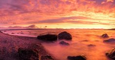 This was an epic sunset ! I can't believe that we alnost missed it ! This sky was on fire #newzealand #taupo #sunset #orange #red #colouful #ocean #nature #panorama #beautiful #view #photography #photographer #landscape #ontheroad #backpack #roadtrip #travel #trip #worldtour #wideangle #adventure #explore #beach #rocks #beautiful #sky #fire #sonya7r by mickaelgoupil