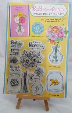 Testing the Build a Bouquet Set from Simply Cards & Papercrafts 162 - Living Creatively with Fibro Flower Outline, Flower Vases, Flowers, Livingstone, Kids Cards, Free Gifts, Stamping, Magazines, Bouquet