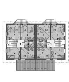 Projekt domu Trivento II Termo 121,79 m2 - koszt budowy 156 tys. zł - EXTRADOM Floor Plans