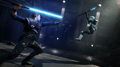 """After the """"right"""" received criticism, Respawn Entertainment has changed the appearance of the laser sword of the protagonist of Star Wars Jedi: the Fallen Order. Star Wars Jedi, Ver Star Wars, Margaret Thatcher, Jedi Training, Akira, Star Wars Fallen Order, Star Wars Video Games, Lightsaber Design, Star Wars"""