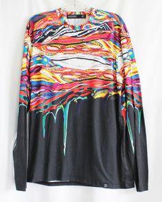 HUDSON OUTERWEAR Shirt Size Medium Long Sleeved Paint Drip Polyester  #HudsonOuterwear #TShirt