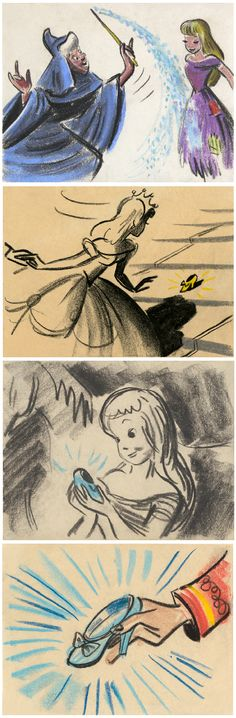 Rare Original Concept Art From Disney's Cinderella
