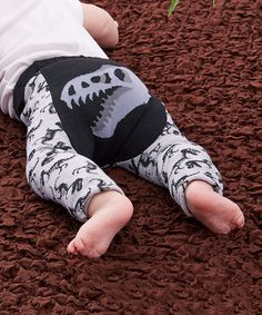 Another great find on #zulily! Gray T-Rex Leggings - Infant #zulilyfinds