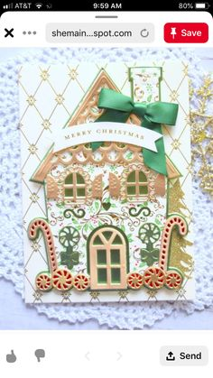 Christmas Cards, Merry Christmas, Anna Griffin Cards, Gingerbread Houses, Card Making, Crafting, Create, Holiday Decor, Building