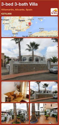 3-bed 3-bath Villa in Villamartin, Alicante, Spain ►€270,000 #PropertyForSaleInSpain