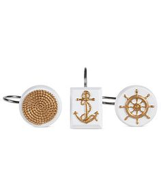 Creative Bath Accessories, Sailing Shower Curtain Hooks