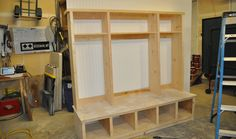 DIYPete shows you how to build a customizable storage hutch. Furniture Projects, Home Projects, Diy Furniture, Diy Garage Storage, Locker Storage, Convert Garage To Bedroom, Garage Bedroom, Garage Entryway, Entryway Ideas