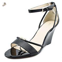 Nine West Faina Women US 8 Black Wedge Sandal - Nine west pumps for women (*Amazon Partner-Link)