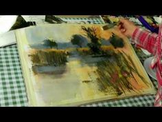 Beyond Watercolour With Chris Forsey R.I. Wonderful demo! Mixed media of acrylic and watercolor with beautful results.