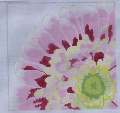 Fabulous Flower Pink Handpainted Needlepoint Canvas 13ct by Jean Smith Designs | eBay