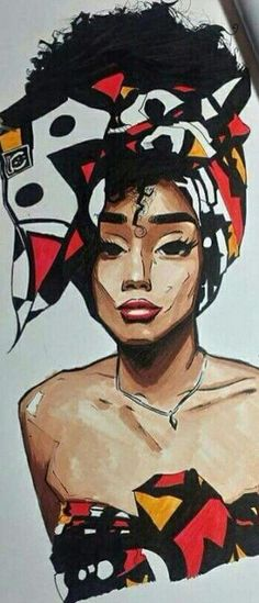 Nature Girl Drawing African Americans 65 Ideas Nature Girl Drawing African Americans 65 IdeasYou can find African american art and more on ou. Afro Samurai, African Drawings, African Art Paintings, Black Art Painting, Black Artwork, Black Girl Art, Black Women Art, Art Women, African American Artwork