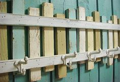 Hey, I found this really awesome Etsy listing at http://www.etsy.com/listing/158389463/beach-fence-hook-rack-coat-rack-beach