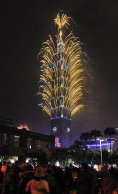 #fireworks - Taipei 101 New Year Fireworks 2013