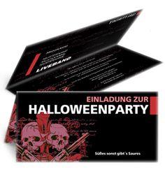 Einladungskarten mit modernen Designs jetzt online günstig kaufen. #einladungskarte #kartenbestellen #halloween