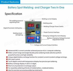 SUNKKO 787A+ LED Pulse Battery Spot Welder Precision Welding Machine with Pedal Power Applicable Notebook Phone Battery