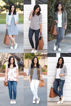 Ways to Wear White Slip-On Sneakers